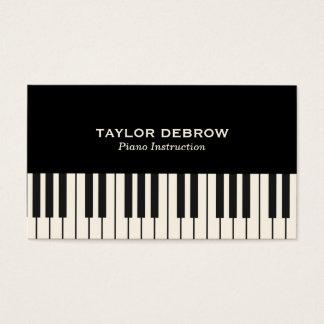 Klavier-Tastatur-schwarzes u. weißes modernes hoch Visitenkarte