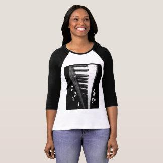 Klavier-Tastatur-Shirt T-Shirt