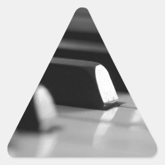 Klavier Tasten Dreieckiger Aufkleber