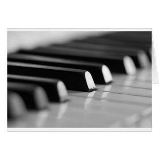 Klavier Tasten Grußkarte
