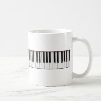 Klavier-Tasten Kaffeetasse