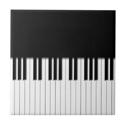 Klavier tasten kleine quadratische fliese zazzle - Klavier fliesen ...