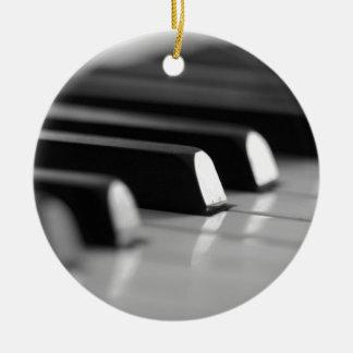 Klavier Tasten Rundes Keramik Ornament