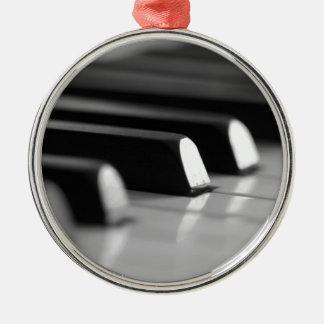 Klavier Tasten Rundes Silberfarbenes Ornament