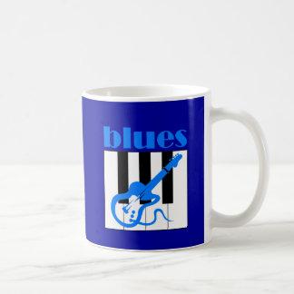 Klavier- und Gitarren-Blues Kaffeetasse