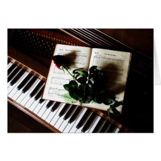 Klavier-und Rosen-Hochzeit danken Ihnen Karten