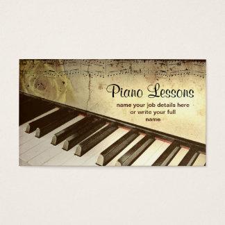 Klavier-Visitenkarte Visitenkarten