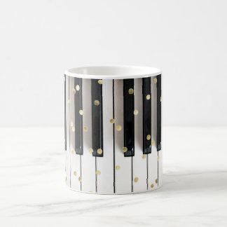 Klaviergoldfolie Confetti Kaffeetasse