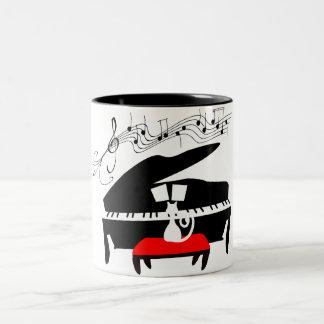 Klavierkatze Zweifarbige Tasse