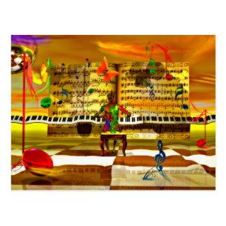 Klavierkunst Postkarte