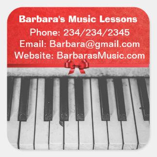 Klavierstunde-fördernde Aufkleber