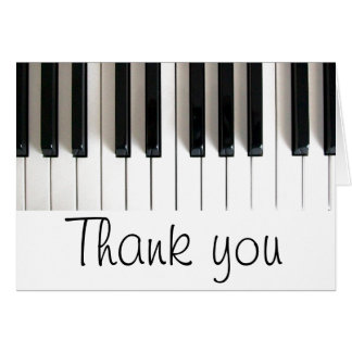 Klaviertastatur danken Ihnen Karte