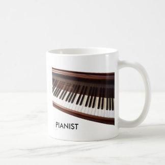 Klaviertastatur Kaffeetasse