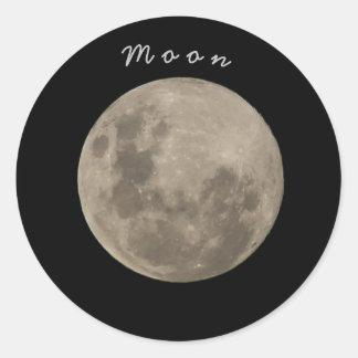 Klebe Mond Runder Aufkleber