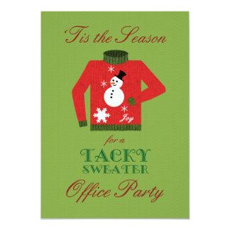 Klebriges Strickjacke-Büro-WeihnachtsParty 12,7 X 17,8 Cm Einladungskarte