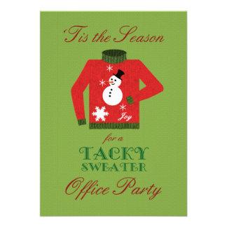 Klebriges Strickjacke-Büro-WeihnachtsParty Personalisierte Einladungen