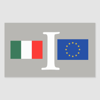 KLEBSTOFF ITALIEN EUROPÄISCHE UNION RECHTECKIGER AUFKLEBER