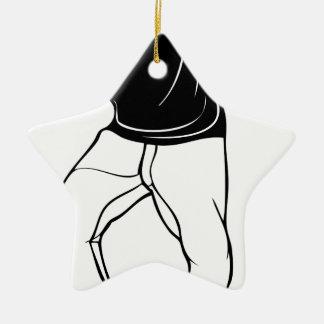 Klecks-Tanz Keramik Stern-Ornament