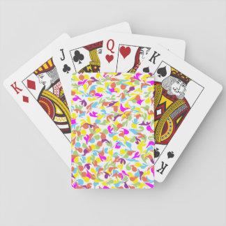 Kleckse der Farbe auf Weiß Spielkarten