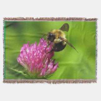 Klee-Blumen-Blumenhummelthrow-Decke Decke