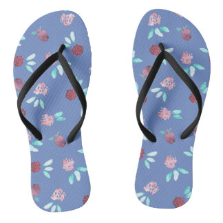 Klee-Blumen-erwachsene dünne Bügel drehen Flip Flops