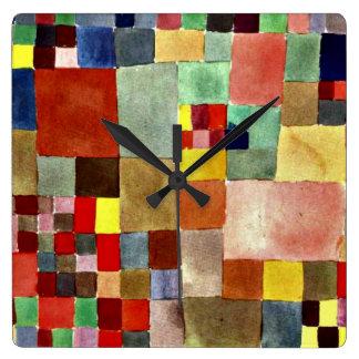 Klee: Flora auf Sand Quadratische Wanduhr