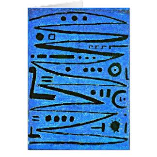 Klee - heroisches Fiedeln Grußkarte