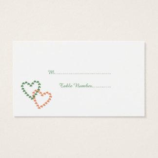 Klee-Herzen, die Platzkarten Wedding sind Visitenkarte