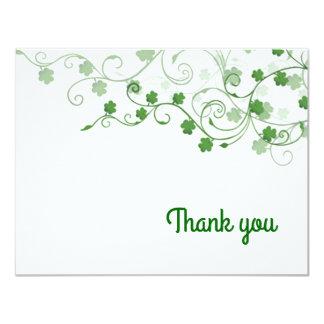 Klee-Iren danken Ihnen zu kardieren Karte