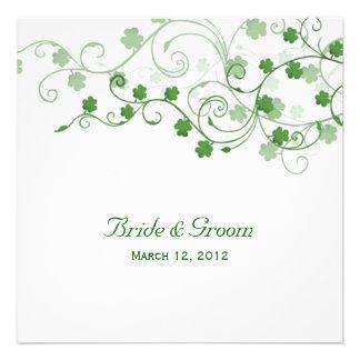 Klee-irische Hochzeits-Einladung