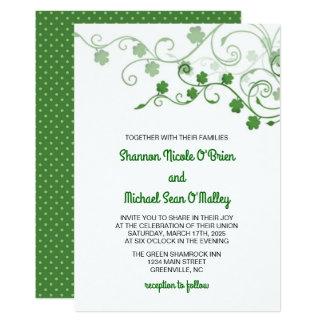 Klee-irische Hochzeits-Einladung Karte