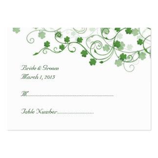 Klee-irische Hochzeits-Platzkarte Jumbo-Visitenkarten