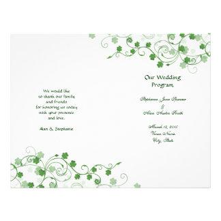 Klee-irische Hochzeits-Programm-Flyer 21,6 X 27,9 Cm Flyer