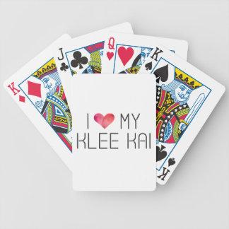 Klee Kai Liebe-Zitat Bicycle Spielkarten