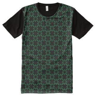 Klee-Kontur gemustert T-Shirt Mit Bedruckbarer Vorderseite