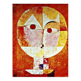 Klee Kunst - Senecio Postkarte