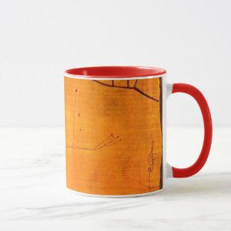 Klee Malerei - Früchte auf Rot Tasse