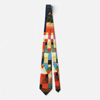 Klee - Stadt-Bild mit den roten und grünen Personalisierte Krawatten