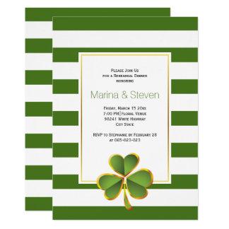 Klee u. Grün, Streifen, die Probenabendessen Karte