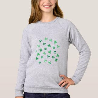 Klee verlässt der Raglan-Sweatshirt der Mädchen Sweatshirt