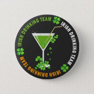 Kleeblatt-Cocktail-Knopf St. Patricks Tages Runder Button 5,7 Cm