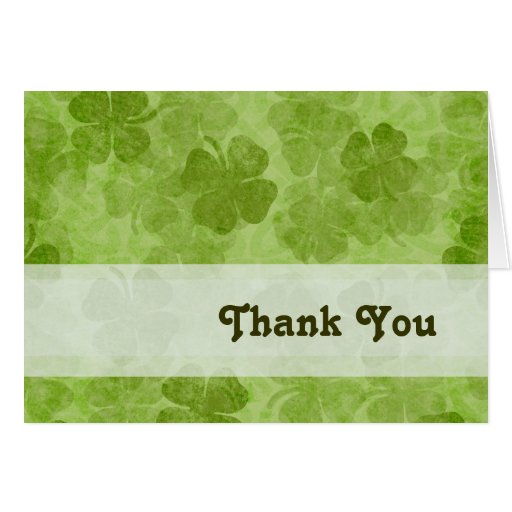 Kleeblatt danken Ihnen zu kardieren Karte