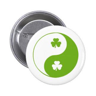 Kleeblatt, das Yang ying ist Runder Button 5,1 Cm