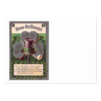 Kleeblatt Erin gehen Bragh Lehm-Rohr Shillalah Mini-Visitenkarten