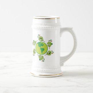 Kleeblatt glücklich bierglas
