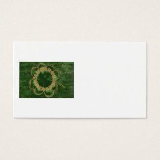 Kleeblatt-Gold vierblättriges Kleeblatt Visitenkarten