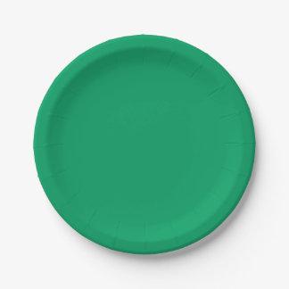 Kleeblatt-Grün Pappteller