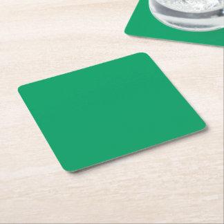 Kleeblatt-grüner quadratisches Papier-Untersetzer Rechteckiger Pappuntersetzer