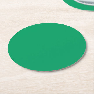 Kleeblatt-grüner runder PapierUntersetzer Runder Pappuntersetzer