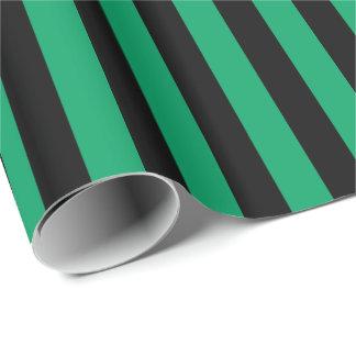 Kleeblatt-grüner/schwarzer Streifen Geschenkpapier
